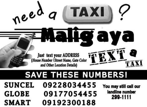 Maligaya Taxi Davao