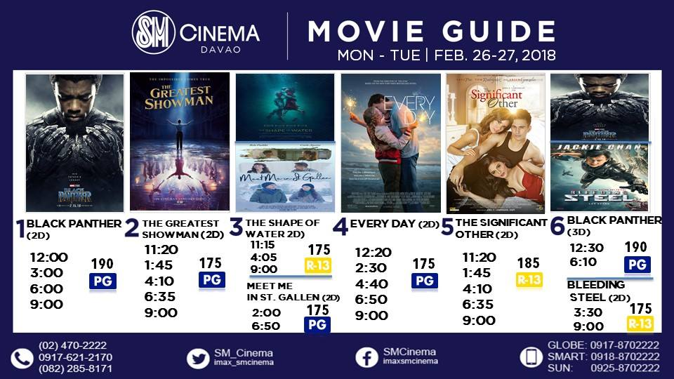 SM City Davao Cinema Movie Schedule 2018