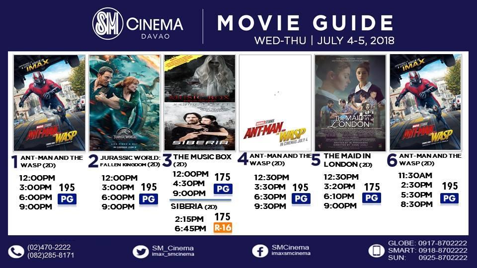 SM City Davao cinema movie schedule Ant Man