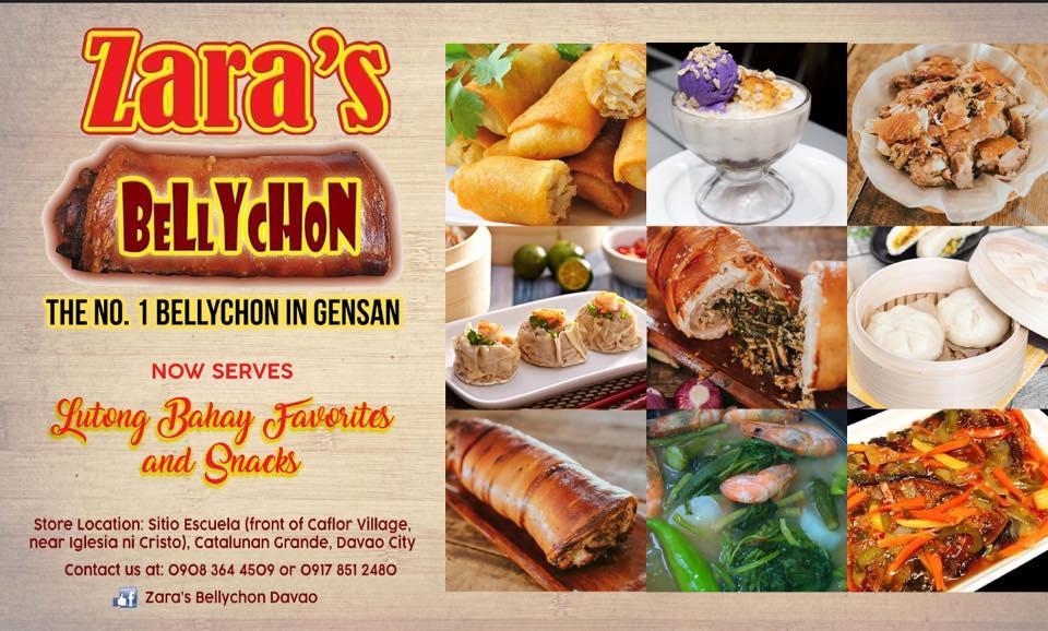 Zara's Bellychon Davao lechon belly - lechon roll