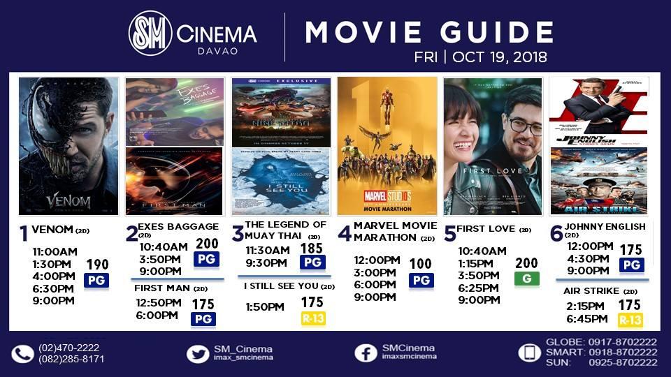 SM Davao CInema movie schedule October 2018